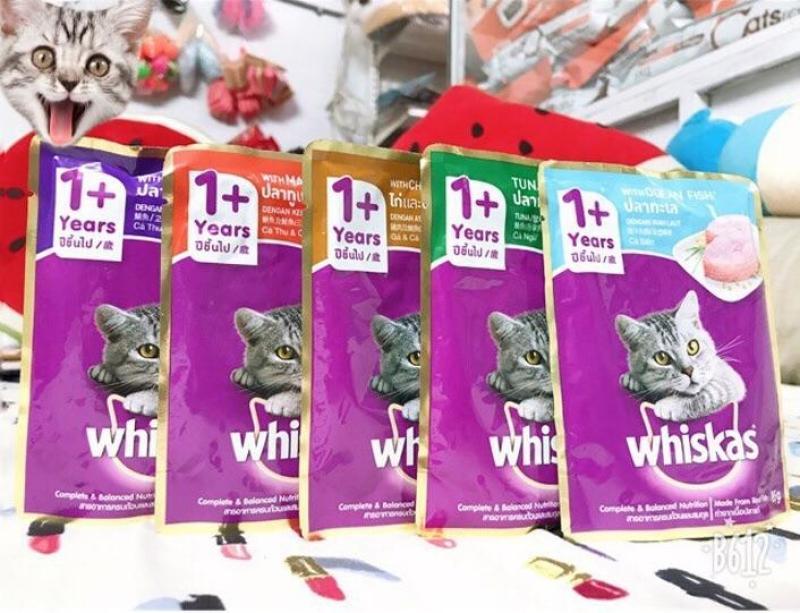 Pate Whiskas 85g - thức ăn dành cho mèo (24 gói mix mùi)