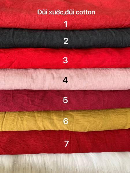 Vải đũi xước cotton mềm mát