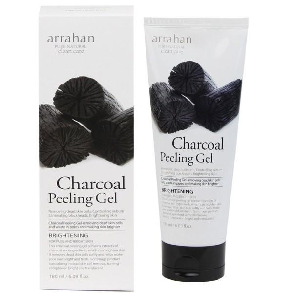 Tẩy Tế Bào Chết Arrahan Than Hoạt Tính 180ml Dạng Gel - Arrahan Charcoal Peeling Gel 180ml