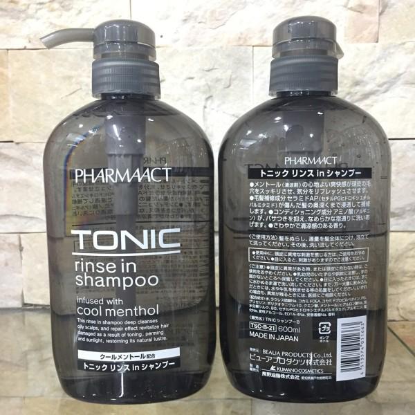 Dầu gội xả Nam cho tóc gàu Tonic Pharmaact 600ml xuất xứ Nhật Bản hàng nhập chính hãng giá rẻ