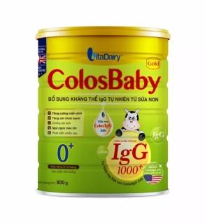 Sữa bột COLOSBABY GOLD 0+ 800G [CAM KẾT CHÍNH HÃNG, DATE MỚI] thumbnail