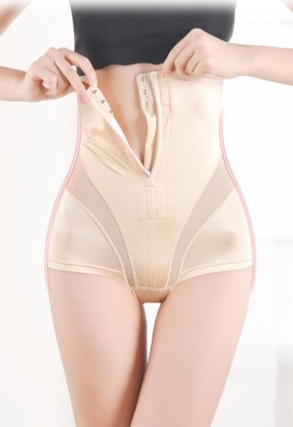 Quần gen bụng, quần nịt bụng lụa cao cấp có khóa kéo tiện lợi, chống cuộn
