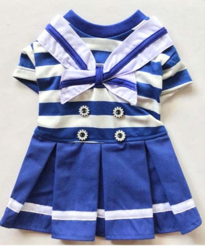 Váy Đầm Áo Chó Mèo Thú Cưng Thuỷ Thủ Đủ Size Kích Cỡ ĐƯỢC CHỌN MÀU