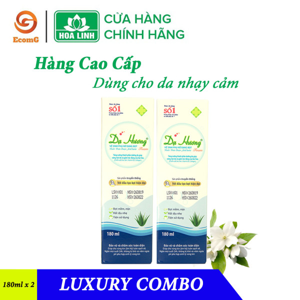 Luxury Combo - Combo siêu tiết kiệm 2 dung dịch vệ sinh phụ nữ cao cấp Dạ Hương Foam (Sensi) - Dùng cho da nhạy cảm - DH2-02 giá rẻ