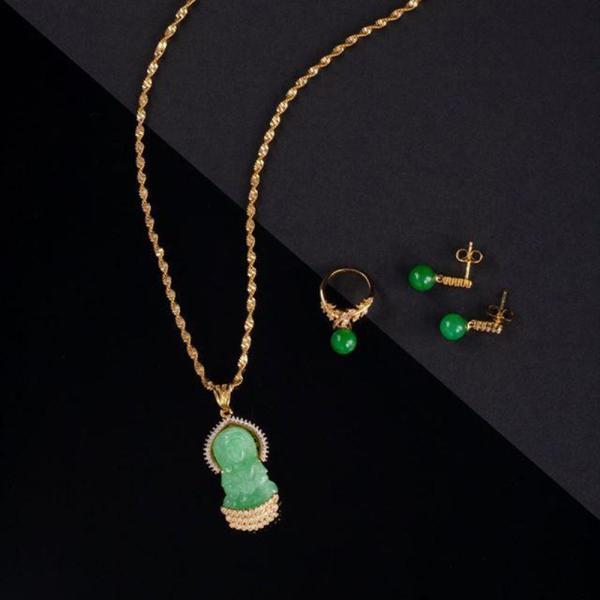 Mua 01 Bộ trang sức Ngọc Phật Vaadoo tặng 01 bộ trang sức đá tím cao cấp