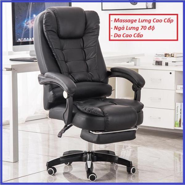 Ghế Làm Việc, Ghế Văn Phòng Có Massage Lưng Kèm Để Chân Cao Cấp giá rẻ