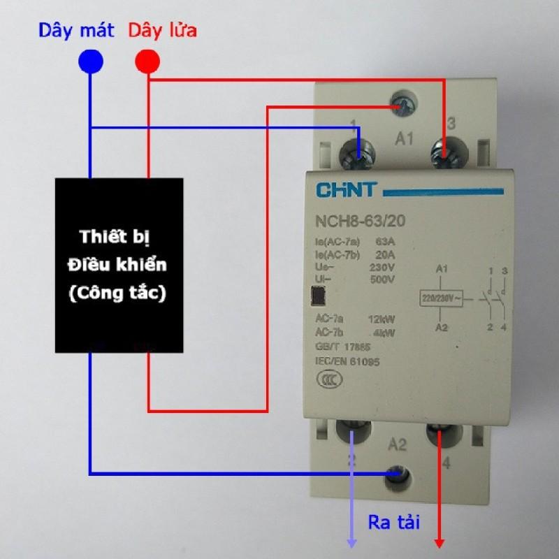 Contactor Khởi động từ 1 pha Chint NCH8-63A 220V