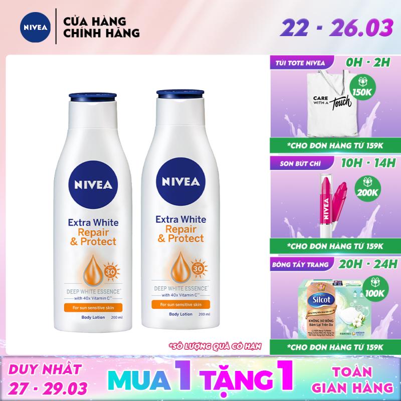 Combo 2 Sữa Dưỡng Thể Săn Chắc Và Dưỡng Trắng Da Nivea 200ml - 88310