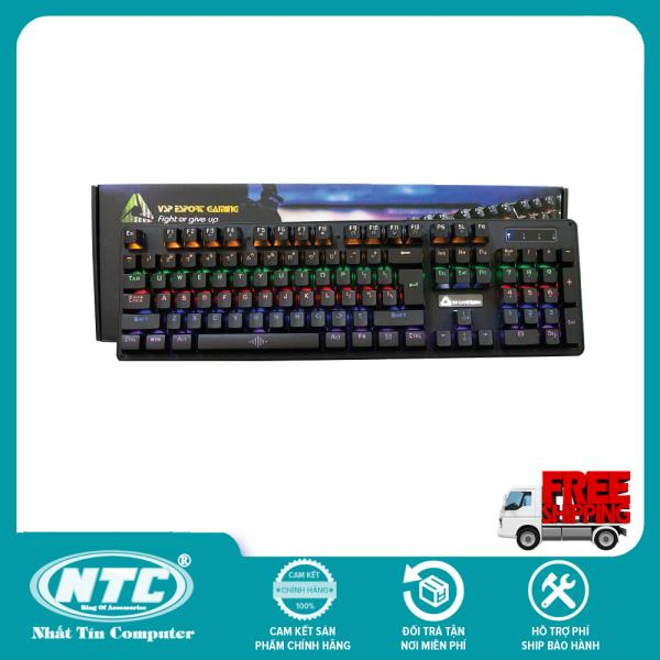 Bảng giá [TẶNG 10 BAO LÌ XÌ] Bàn phím cơ chuyên game Blue Switch Bosston MK912A - thay đổi 9 chế độ đèn Led (Đen) - NHIỀU PHÂN LOẠI TÙY CHỌN - Hãng phân phối chính thức - Nhất Tín Computer Phong Vũ