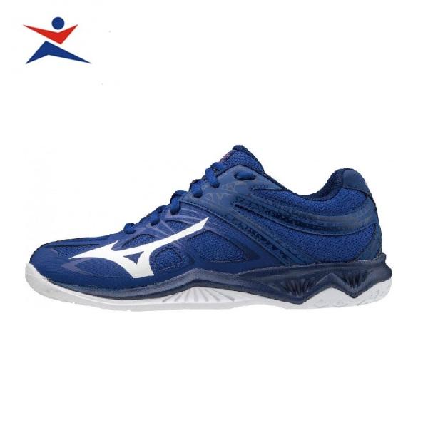 Giày cầu lông cho nam MIZUNO V1GA197020 chống lật cổ chân,màu xanh-giày chơi bóng chuyền-giầy thể thao cao cấp