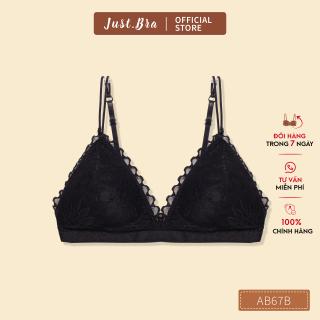 Áo ngực nữ tam giác Just Bra họa tiết ren tin tế AB67B thumbnail