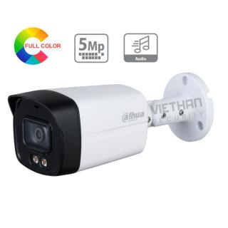 Camera 5.0Mb Dahua DH-HAC-HFW1509TLMP-A-LED có màu ban đêm, tích hợp mic ghi âm, dùng kết hợp với đầu ghi hình Dahua thumbnail