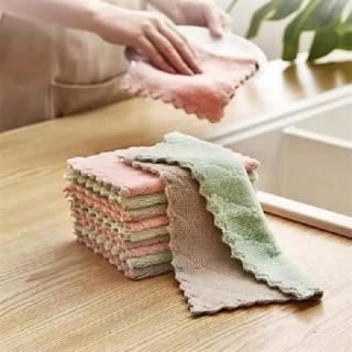 sét 6 chiếc Khăn lau nhà bếp siêu thấm hút- Bộ khăn lâu đa năng - Khăn lau 2 mặt đa năng mềm mịn xịn xò thumbnail