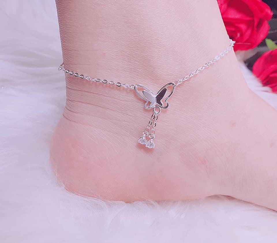 lắc chân bạc ta hình chú bướm