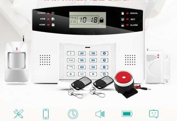 Trung Tâm Báo Động Chống Trộm Không Dây Qua Sim GSM Điện Thoại và RF 433Mhz