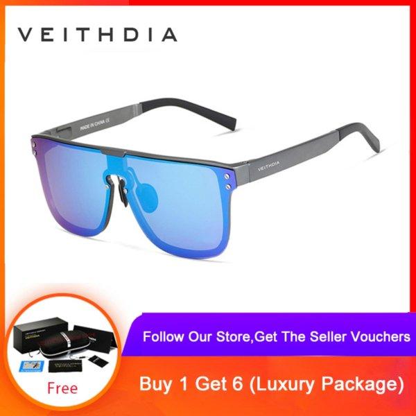 Mua VEITHDIA Fashion Retro Aluminum Sunglasses Polarized Eyewear Accessories Sun Glasses For Men 6881