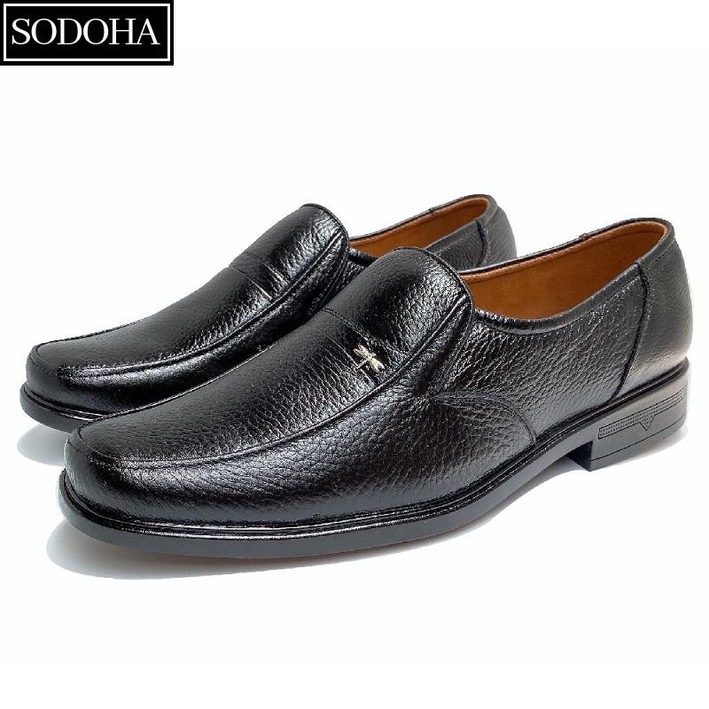 Giày tây nam - giày tây nam da bò - giày tây nam công sở SODOHA - 9338