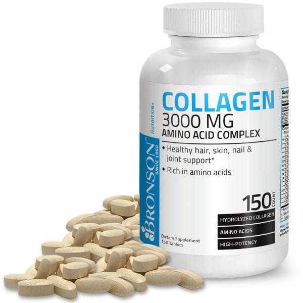 Collagen 3000mg - 150 viên Mỹ - Đẹp da, tóc, móng & Bổ xương khớp