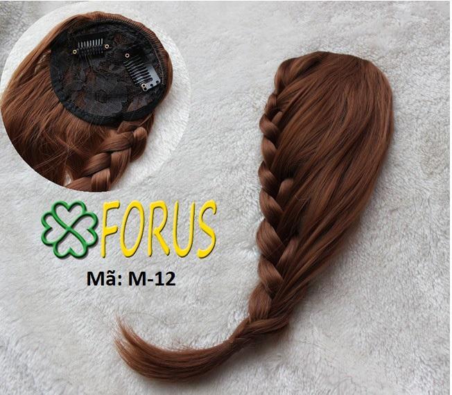 Tóc mái tết đuôi sam M12, màu [nâu đỏ vàng 2/30] nhập khẩu