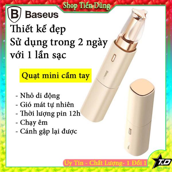 Baseus Mini Fan Cầm Tay Quạt Cầm Tay, Quạt Làm Mát Mùa Hè Có Thể Sạc Lại Ống Vuông, USB Cooler Fan Nhỏ Làm Mát Không Khí Tiếng Ồn Thấp