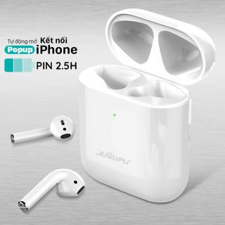 Tai nghe bluetooth JUYUPU BT100 nhét tai chống ồn chính hãng cao cấp dùng cho iPhone Samsung OPPO VIVO HUAWEI XIAOMI tai nghe không dây thumbnail