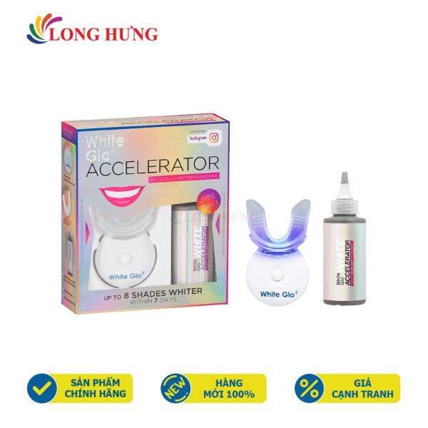 Bộ kích trắng răng bằng ánh sáng xanh White Glo Accelerator - Hàng nhập khẩu - Loại bỏ các vết ố vàng trên răng bằng công nghệ ánh sáng xanh