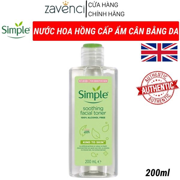 Nước Hoa Hồng Simple Kind To Skin Soothing Facial Toner Siêu Dịu Nhẹ Cho Làn Da zavenci (200ml)