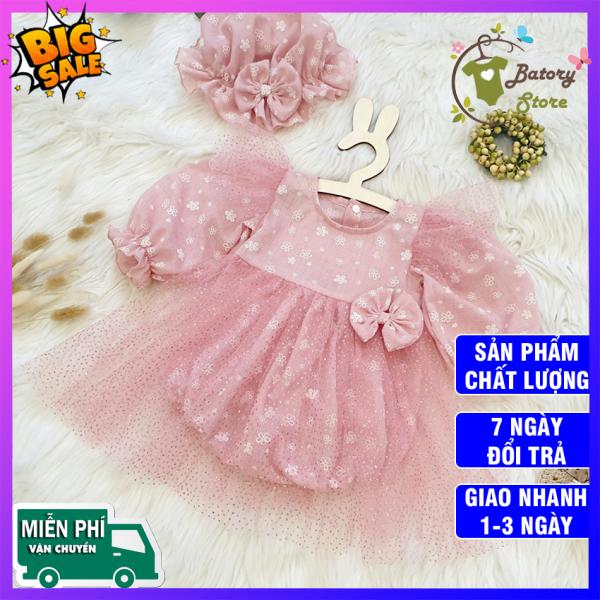Giá bán [Hình thật] Váy đầm bé gái hồng phấn tặng kèm nón xinh xắn - Chất liệu cao cấp, an toàn cho bé - BATORY Store