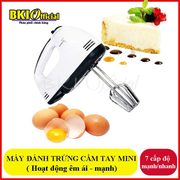 Máy đánh trứng, mát đánh trứng cầm tay 7 cập độ có thể quấy bột, quánh bánh  làm kem trộn, may danh trung mini