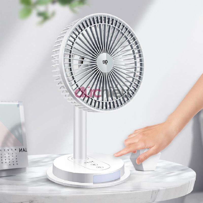 [ Hàng bao đẹp ] Quạt sạc tích điện loại to 3 chế độ có đèn led DP Lighting