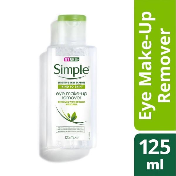 Tẩy Trang Simple Kind To Skin Eye Make-up Remover 125ml Tẩy Trôi Mascara Không Thấm Nước 125ml Chính Hãn | Mini 50Ml nhập khẩu