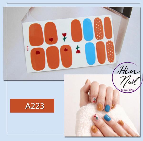 [Lấy mã giảm thêm 30%] dán móng tay 14 miếng nghệ thuật họa tiết xinh xắn chống nước giá rẻ