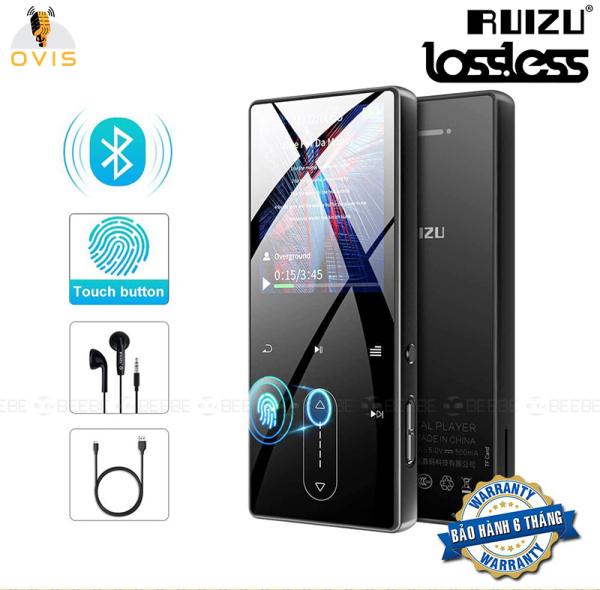 [BH 1 ĐỔI 1] Máy Nghe Nhạc Bluetooth MP3 Player RUIZU D22 Phím Cảm Ứng, Hỗ Trợ Xem Video Avi, Loa Ngoài (8Gb)