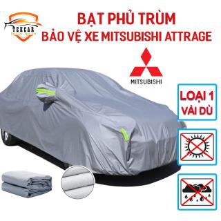 Bạt vải dù oxford bảo vệ xe ô tô Mitsubishi Attrage phủ trùm kín cao cấp , áo trùm xe 5 chỗ thông minh chống nắng, chống nóng, chống xước, chống mưa ngoài trời, bề mặt ngoài mịn bóng , bac phu oto, xe hơi thumbnail