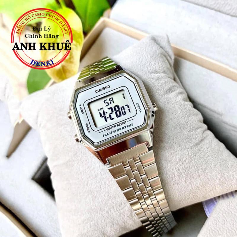 Đồng hồ điện tử nữ dây kim loại Casio Standard LA680WA-7DF chĩnh hãng Anh Khuê