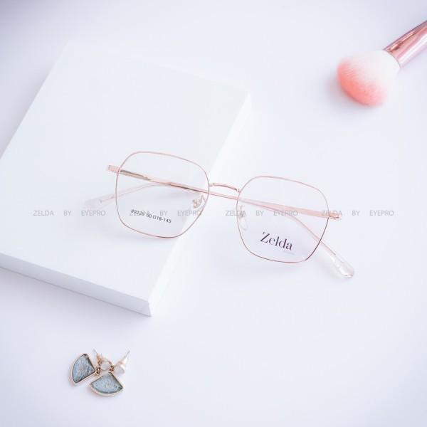 Giá bán [LẮP SẴN CẬN]Gọng kính cận nữ, gọng cận kim loại, mắt kính chữ nhật Z80225G