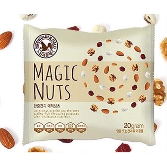 Gói Ngũ Cốc Nguyên Hạt Organic - Ngũ Cốc Nguyên Hạt Hàn Quốc (20g) - Magic Nuts