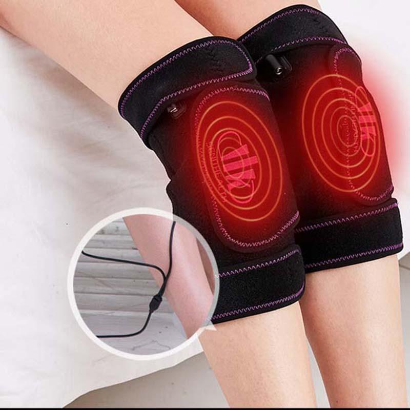 Đệm sưởi ấm đầu gối, hỗ trợ các vấn đề về xương khớp đầu gối, nhức mỏi cơ bắp, Tặng kèm 1 túi thảo dược