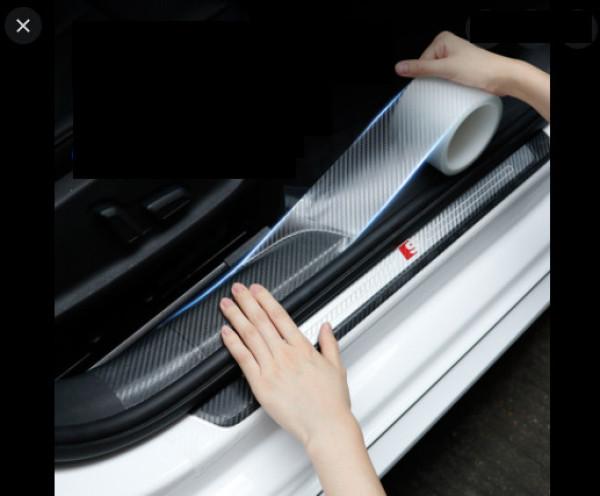 (đủ size) Băng Keo nano siêu dính cuộn 3 mét - Miếng dán bậc cửa ô tô vân carbon - ko thấm nước bảo vệ xế yêu của bạn khỏi trầy xước va đập bám bẩn nhiều vị trí