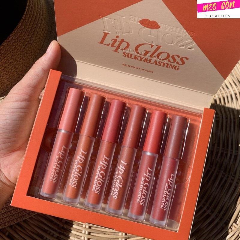 Set son 6 cây Lip Gloss Thái Lan hàng chuẩn lên màu siêu xinh tốt nhất