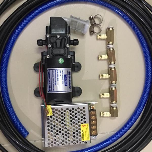 Bộ bơm phun sương 5 Béc 5L/phút - bơm tưới lan cây cảnh - máy bơm nước mini 12v