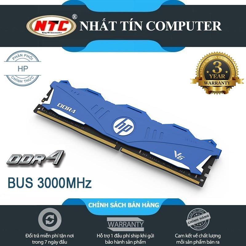 Bộ nhớ RAM HP V6 DDR4 8GB Bus 3000MHz chuẩn UDIMM cực nhanh - dành cho PC/Desktop (xanh)