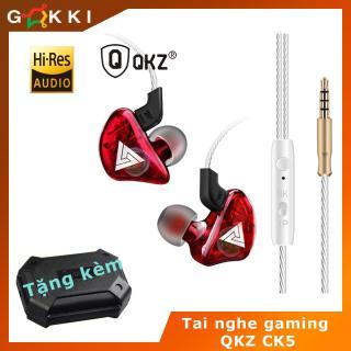 Tai nghe nhét tai - QKZ CK5 - Có Míc - nút tăng giảm âm lượng - Tai Nghe Gaming cho điện thoại - Tai Nghe Nhét Tai Giá Rẻ - Tai Nghe Nhét Tai Gaming - Tai nghe chống ồn thumbnail