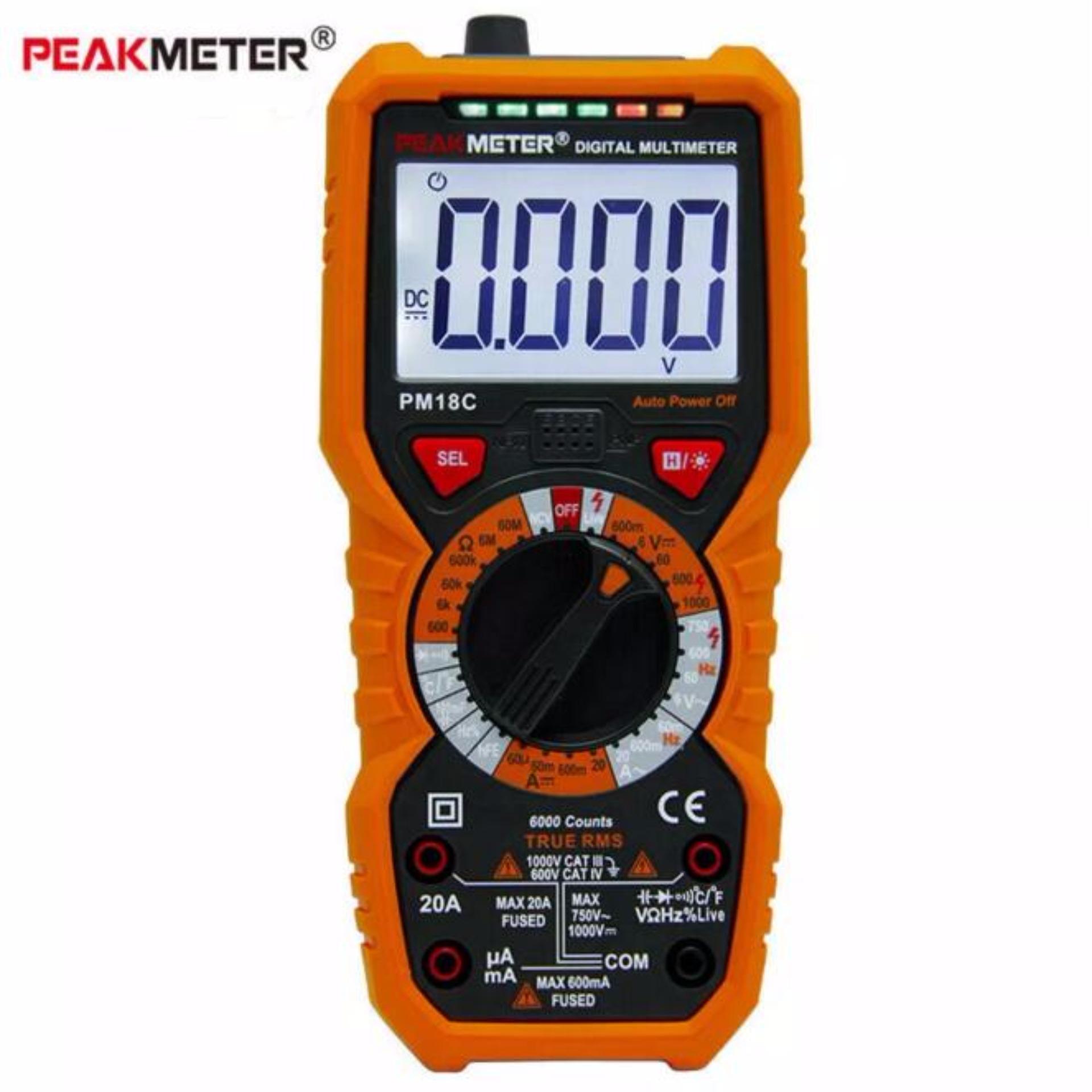 Đồng hồ vạn năng số PeakMeter PM18C