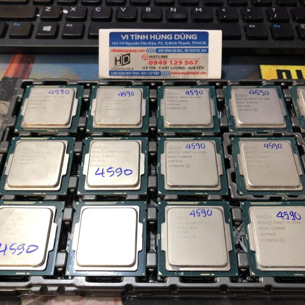 Bảng giá CPU CORE I5 4590 socket 1150, cpu máy tính giá rẻ tặng fan tản nhiệt intel Phong Vũ
