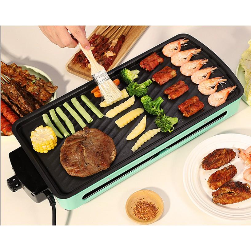Bếp nướng điện không khói Hàn Quốc Simple Electric Grill DKS-301 (có vỉ nướng và khay nướng), thiết kế cao cấp, kiểu dáng sang trọng, sử dụng an toàn và bền bỉ, bếp cách điện an toàn sử dụng vỉ nướng chất liệu thép không gỉ