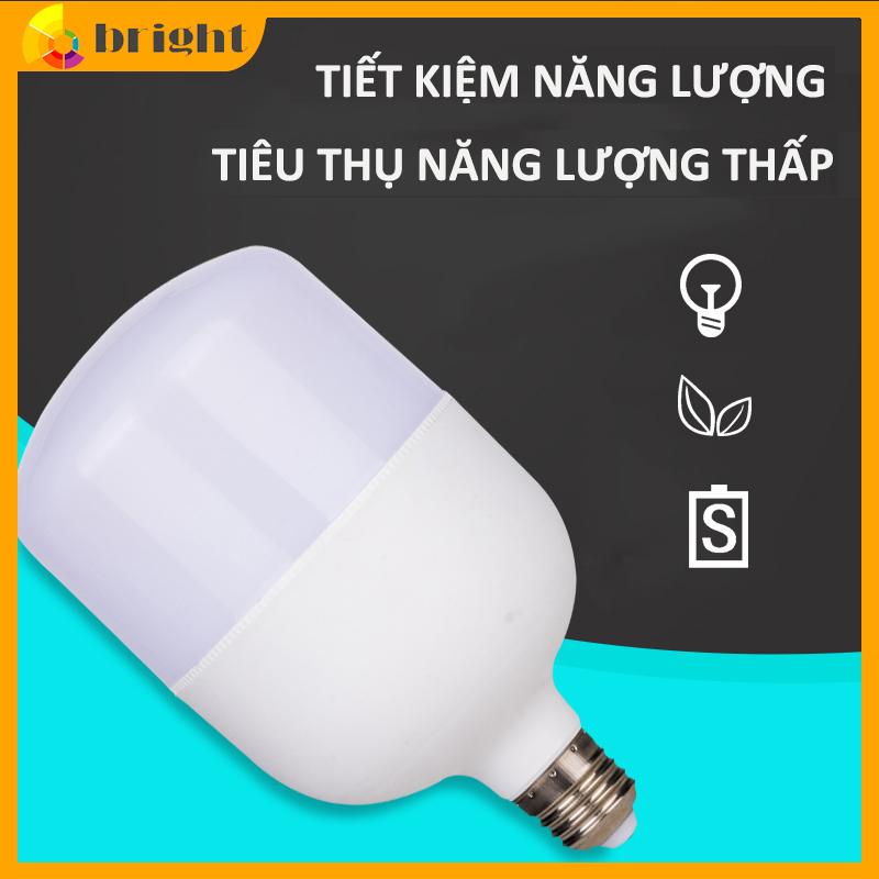 Bóng đèn LED trụ cao cấp đèn chống nước tiết kiệm điện công suất cao siêu sáng ánh sáng trắng