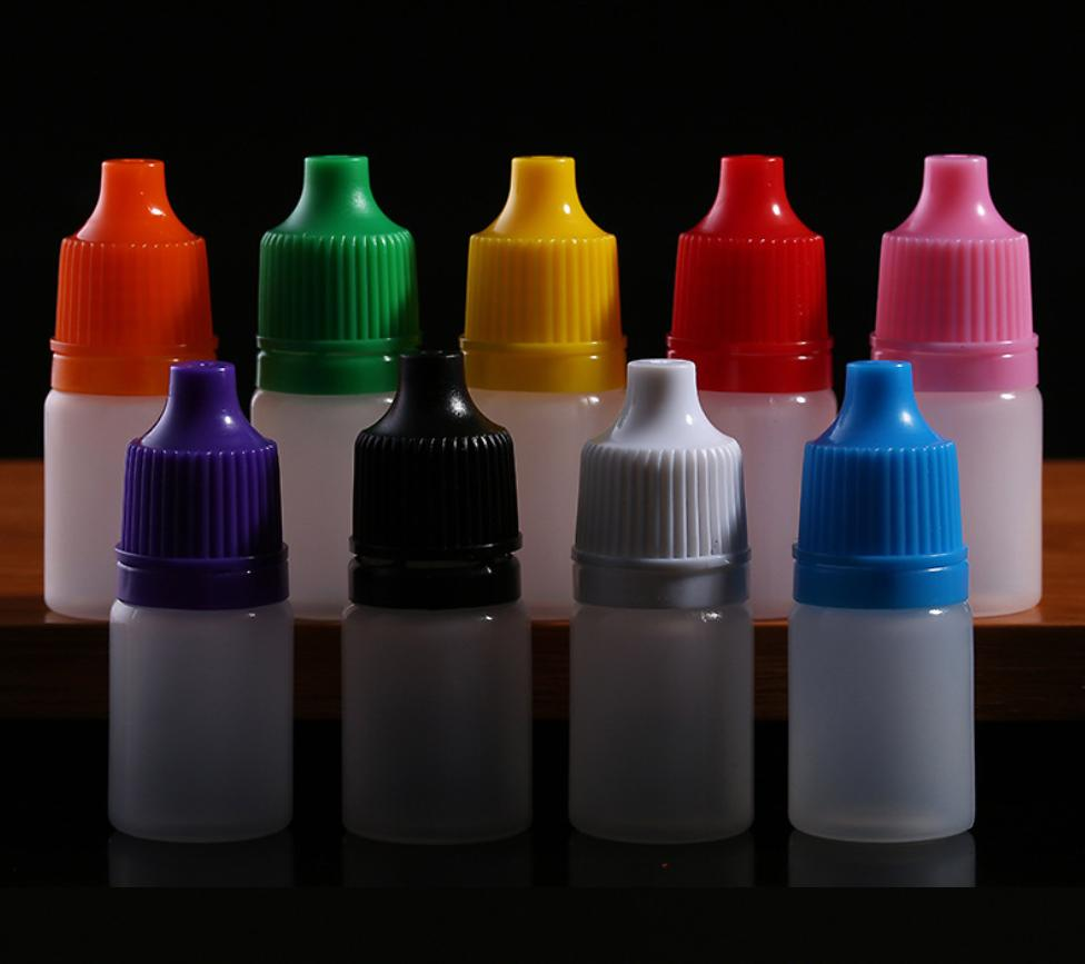 20 chai nhựa 10ml nhựa PE, nhỏ giọt, chiết mỹ phẩm tinh dầu, bộ 20 chai