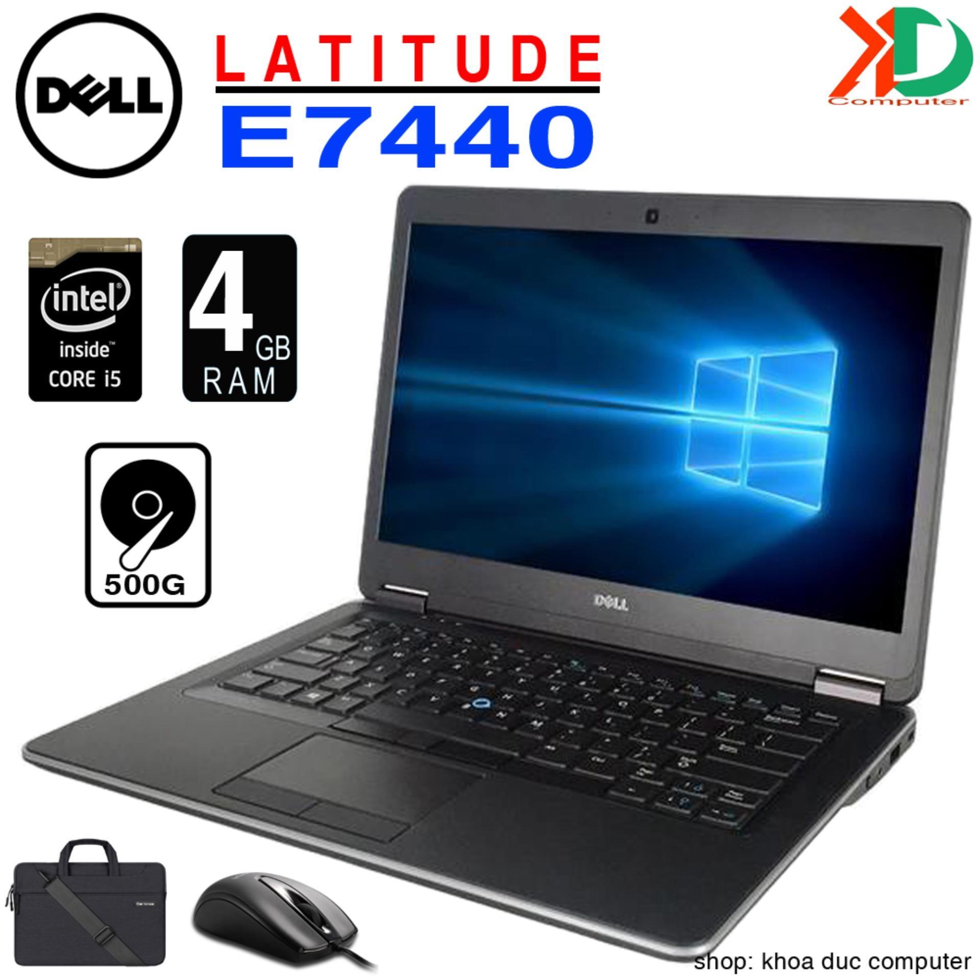 Laptop DELL Latitude E7440 - Core i5-4300U/ 4gb RAM/ 500gb HDD 14inch HD nhập khẩu, tặng Túi, Chuột