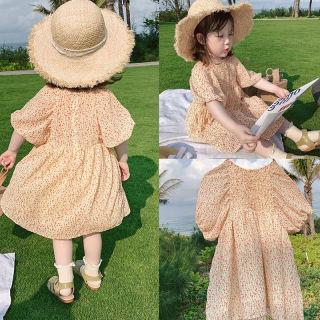 Zhihuida Váy Bé Gái 1-7 Tuổi, Váy Ngắn Tay Phồng Polyester Cho Trẻ Em Dành Cho Bé Gái Đầm Dự Tiệc Đầm Xòe Sinh Nhật Chấm Bi Váy Trẻ Em Cô Gái
